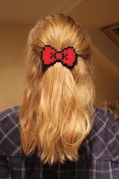 fermaglio per capelli con perline da stirare