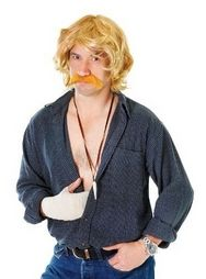Keith Lemon Celebrity Blonde Moustache and Wig Fancy Dress Accessory ON SALE @ www.partyonfancydress.co.uk!! MAY BANK HOLIDAY OFFER! 10% OFF EVERYTHING!!