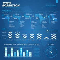 Infographic resume for Chris Robertson