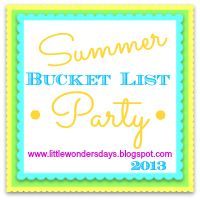 Summer Bucket List Party.,,.share your own too at Little Wonder Days