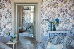 Viola makes the most exquisite wall covering for this Spring with its chalky pastel colourways