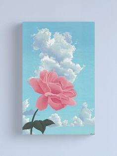 Small Canvas Paintings, Easy Canvas Art, Small Canvas Art, Mini Canvas Art, Acrylic Painting Canvas, Blue Canvas Art, Flower Painting Canvas, Pink Painting, Simple Acrylic Paintings