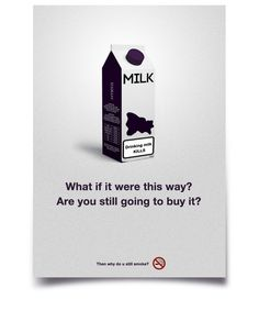 The task was to create a social ad, poster. All the anti–smoking stuff you see on the streets these days is way too much straightforward. Smoking Facts, Anti Smoking, Tobacco Facts, Advertising, Ads, Smoke, Smoking, Acting