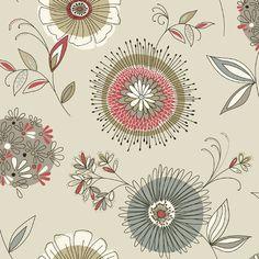 "Found it at Wayfair - Simple Space II Maisie 33' x 20.5"" Floral 3D Embossed Wallpaper"
