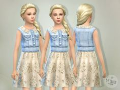 The Sims Resource: Sea Breeze dress by lillka • Sims 4 Downloads
