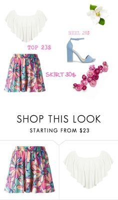"""""""Untitled #3131"""" by teastylef ❤ liked on Polyvore featuring adidas Originals, WearAll, Nly Shoes, under50 and skirtunder50"""