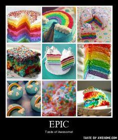 rainbow brite! love this cake :)