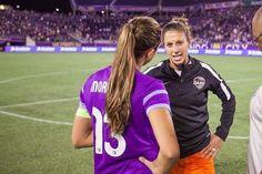 Alex Morgan # Carli Lloyd Soccer Usa, Soccer Girls, Play Soccer, Soccer Ball, Female Football Player, Football Players, Carli Lloyd, Orlando Pride, Soccer Stuff
