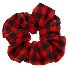 Buffalo Check Hair Scrunchie - Red - New Ideas Red Scrunchie, Velvet Scrunchie, Hair Scrunchies, Rose Bun, How To Make Scrunchies, Brooklyn And Bailey, Hair Bobbles, Fru Fru, Accesorios Casual