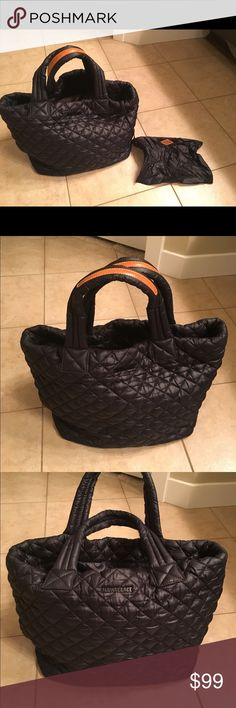 MZ Wallace Small Metro Tote Black quilted nylon tote. Extremely  lightweight. MZ Wallace Bags 5d9ef1d27dbd5