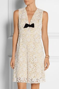 Burberry Prorsum | Macramé lace dress | NET-A-PORTER.COM