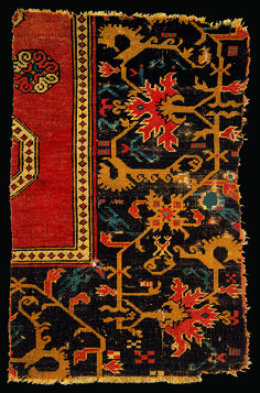 OTTOMAN CARPETS IN THE XVI - XVII CENTURIES (16-17TH CENTURIES) Saschiz / Keisd Bellini rug fragment, Transylvania, Mureş County, Romania