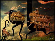 Сообщество иллюстраторов / Иллюстрации / Первушин Сергей / Птицы-города