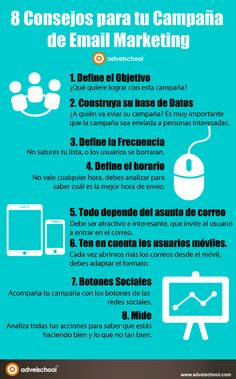8 Consejos para tu campaña de Email Marketing #infografia #infographic #marketing