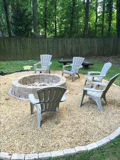 Backyard Hill Landscaping, Backyard Garden Landscape, Backyard Ideas, Patio, Outdoor Spaces, Outdoor Decor, Outdoor Furniture Sets, Fire, Decorating