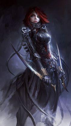 Dark Age Black Widow Fan Art by Daniel Kamarudin #Marvel #AvengersAoU