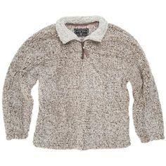 True Grit 1/2 Zip Pullover Fleece (frosty tipped) ($116) ❤ liked on Polyvore featuring tops, sweaters, zipper top, zip pullover, true grit pullover, brown sweater and fleece zip pullover