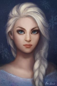 What Elsa would look like realistically. Pretty either way!