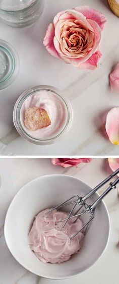 Flowers make this body lotion smell yum and extra moisturizing - DIY Hibiscus Body Butter