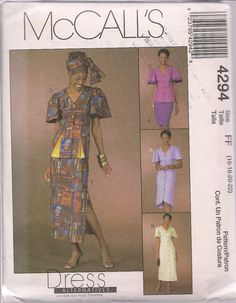 McCalls 4294 Dress Alternatives  Misses Misses by ALLGOODTHINGS, $4.00