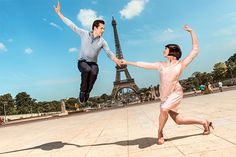 Robert Fairchild and Leanne Cope in An American in Paris on Broadway