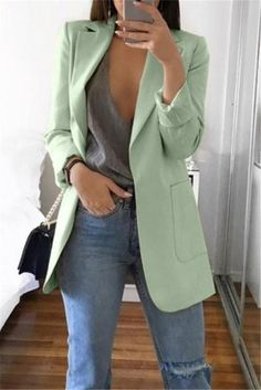 Long Blazer Jacket, Look Blazer, Suit Jacket, Sleevless Blazer, Blazers For Women, Coats For Women, Clothes For Women, Blazer Jackets For Women, Ladies Blazers