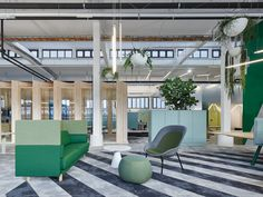 Bosch is empowering people to work where, when and how they choose. Agile work spaces design by Studio Alexander Fehre. Featuring Arnhem Sofa and Nook Lounge Chair. Workspace Design, Office Workspace, Office Cubicle, Nook, Modular Couch, Innovative Office, Couch Design, Lounge Chair, Open Office