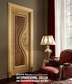 luxury interior doors for classic interior, luxury Italian wood door designs 2015