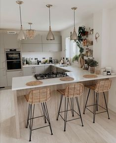 Don't be impressed with the tidy kitchen, it currently smells like a chip shop in here 😬. I now remember why I ban deep fat frying 🤦‍♀️. Tidy Kitchen, Kitchen Room Design, Home Decor Kitchen, Kitchen Interior, Home Kitchens, Kitchen Dining, Kitchen Chairs, Home Decor Inspiration, Decor Ideas