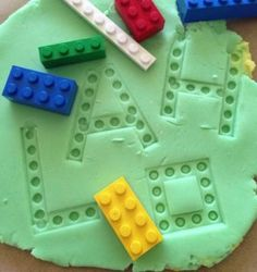 learning games - exploring Lego and play dough. This is a great activity for sensory play, imaginative play, letter recognition and sight words. This would be great to use in an autism classroom while learning long vowel sounds with silent E. Teaching Phonics, Preschool Learning, Preschool Activities, Preschool Sign In Ideas, Learning Games For Preschoolers, Work Activities, Learning Letters, Motor Activities, Therapy Activities