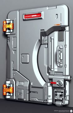 Polycount Forum sci-fi door by ae