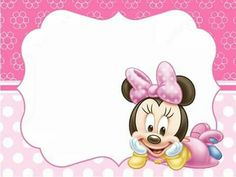 Minnie Mouse Birthday Decorations, Minnie Mouse Birthday Invitations, Minnie Mouse Baby Shower, Mickey Minnie Mouse, Fiesta Mickey Mouse, Baby Illustration, Hello Kitty Wallpaper, Baby Album, Mouse Parties