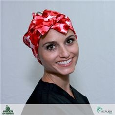 Red Blood Cells | Super Tie Scrub Hats by Green Scrubs