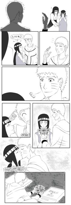 Naruto Shippuden » Comic | Hinata visits Neji's grave 3 | #hinata #neji
