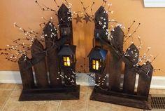 Décor primitif décoration rustique décor de porte bougie