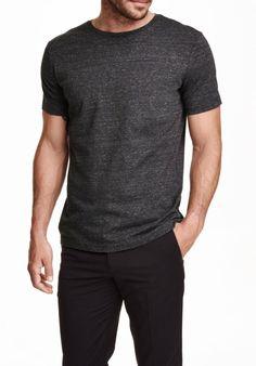 Black pants dark grey t shirt