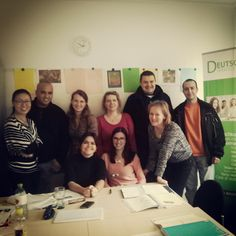 The last day of our German course. Four Square, Conference Room, German, Table, The Last Day, Deutsch, German Language, Tables, Desk