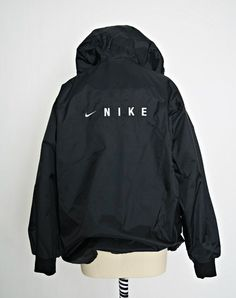 Vintage Nike Jacket | 90s Nike Bomber | Nike Windbreaker Black - Google Search