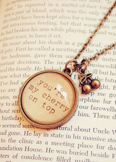 You're My Cherry on Top necklace #Cherries #CherryJewelry #Necklace
