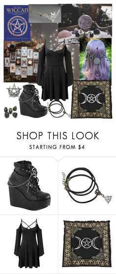 """Wicca"" by xxonyx-lightwaterxx ❤ liked on Polyvore featuring Demonia and Killstar"