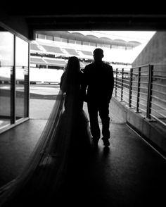 A wedding at Baylor's McLane Stadium.