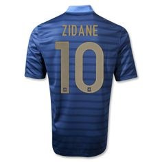 France 12 14 ZIDANE Authentic Home Soccer Jersey Support France 199387254