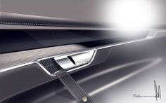 Volvo Concept Coupe Interior Door Panel design sketch