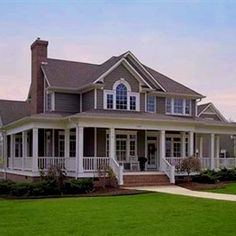 Really like this one....a tad extravagant but LOVE the wrap around porch