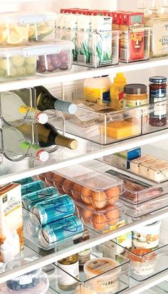 Keep your refrigerator organized so that you can find all your necessities at ease. #diykitchenorganization