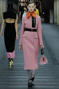 Classic polka dots in a very modern interpretation are tres cool!   Miu Miu Fall 2013