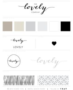 Lovely Handwritten Calligraphy Logo Design and Branding Kit on Etsy, $33.43 AUD