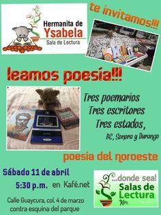 Sábado de poesía en Sala de Lectura de Hermanita de Ysabela y Donde Sea! Sala de Lectura, en Los Cabos, Poesía del noroeste.