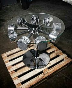 23 Awesome DIYs Made From Old Upcycled Car Parts is part of Industrial Rustic furniture Ana White - DIY Automotive Car These old car parts have actually been upcycled right into several of the most amazing as well as imaginative DIY tasks I've ever seen! Garage Furniture, Car Part Furniture, Automotive Furniture, Automotive Decor, Furniture Design, Man Cave Furniture, Automotive Group, Furniture Removal, Metal Projects