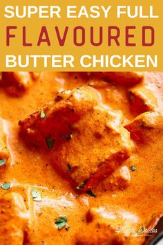 Super Easy Full Flavoured Butter Chicken—rivals any restaurant or take out! Similar to Chicken Tikka Masala, Butter Chicken is one of the most popular curries at any Indian restaurant around the world. Aromatic golden chicken pieces in an incredible creamy curry sauce, this Butter Chicken recipe is one of the best you will try! #chicken #chickenrecipe #healthyrecipe #dinnerrecipe Yummy Chicken Recipes, Easy Dinner Recipes, Easy Meals, Dinner Ideas, Turkey Recipes, Meat Recipes, Dessert Recipes, Flavoured Butter, Chicken Bacon Ranch Bake